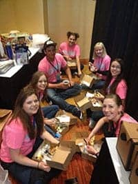 Teen Staff Gold Shirt Power Breakfast at Convention
