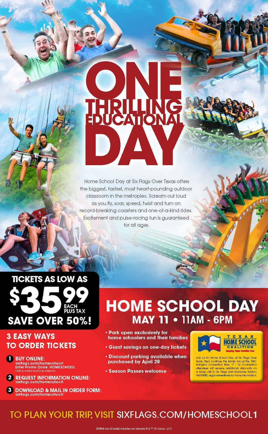 Six Flags Home School Days