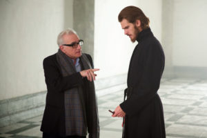 L-R: Director, Martin Scorsese and Andrew Garfield on the set of the film SILENCE by Paramount Pictures, SharpSword Films, and AI Films