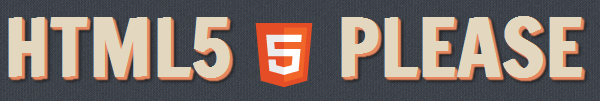 Logo sitio html5please.us