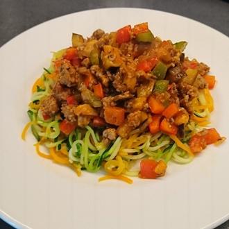 groentenpasta met gehaktsaus