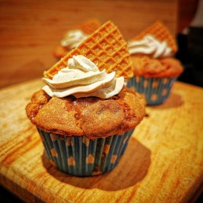 Stroopwafel cupcakes