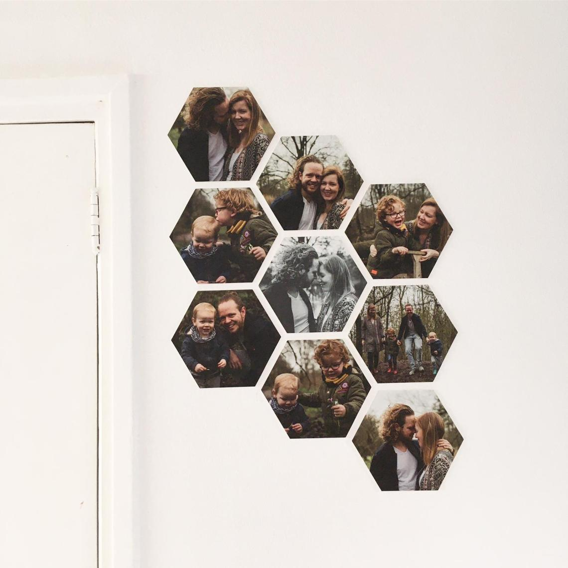 Foto op hexagon
