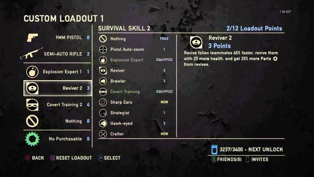 custom load out in the last of us mp