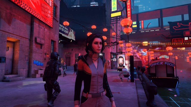 Dreamfall Chapters Zoe wandering through the streets