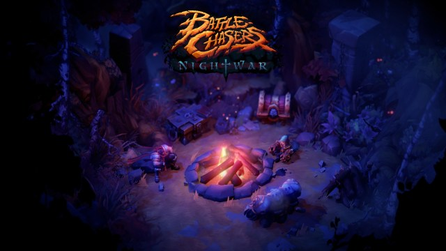 Battle Chasers Nightwar Title Screen