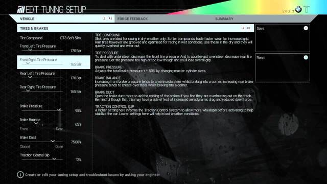 Project Cars - Setup
