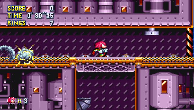Sonic Manis - Knuckles avoiding bombs