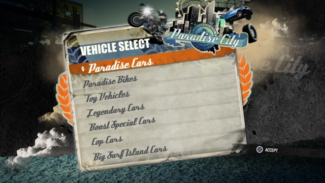 Burnout Paradise Remastered - Vehicle List
