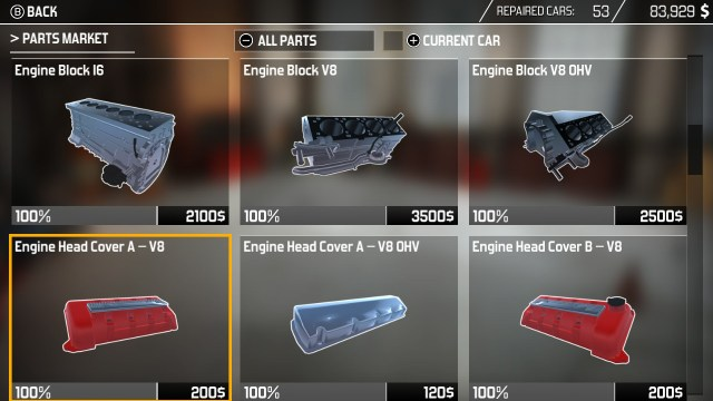 Car Mechanic Simulator - Parts Shop