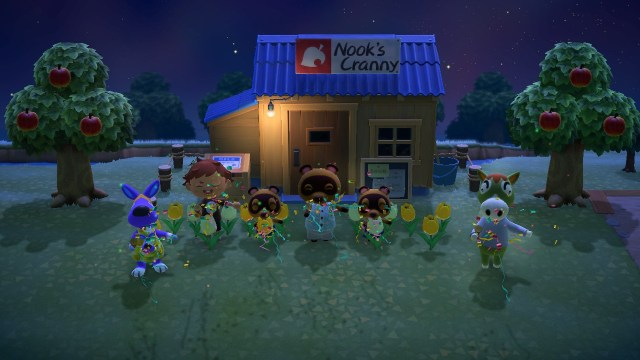 Animal Crossing: New Horizons. Celebrating the shop.