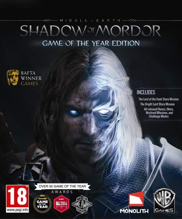 Middle Earth: Shadow of Mordor GOTY Edition pack shot