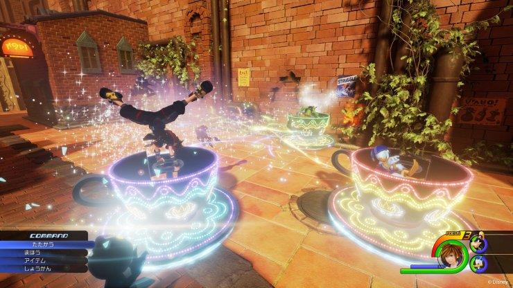 Kingdom Hearts 3 teacup ride