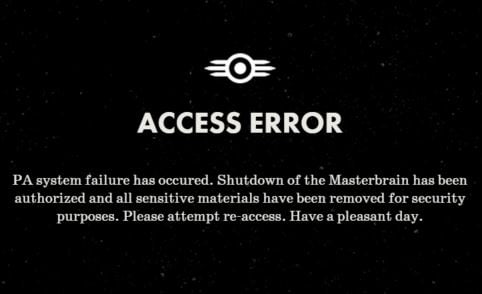 Please Stand By error