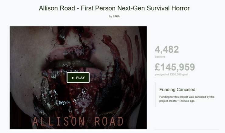 Allison Road cancelled
