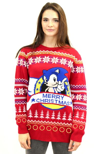 Best gaming Christmas Jumpers – Sonic 02