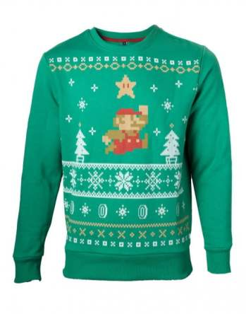 Best gaming Christmas Jumpers – Super Mario Green
