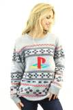 Best gaming Christmas Jumpers – grey PlayStation 02