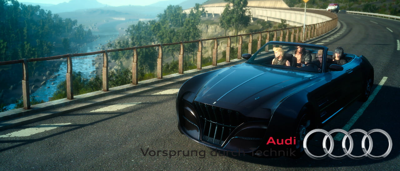 Win An Audi With Your Final Fantasy XV Preorder Thumbsticks - Audi car giveaway
