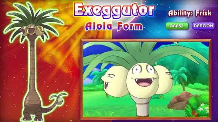 Pokemon Sun and Moon Exeggutor Alola form
