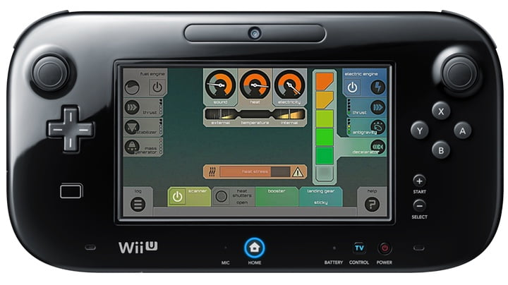 Affordable Space Adventures - Wii U gamepad