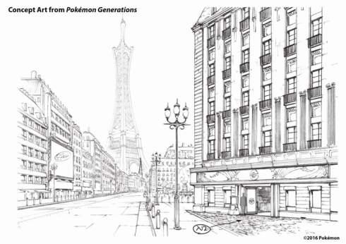 Pokemon Generations - Concept art 1