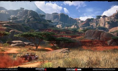 Uncharted 4 time-lapse art video