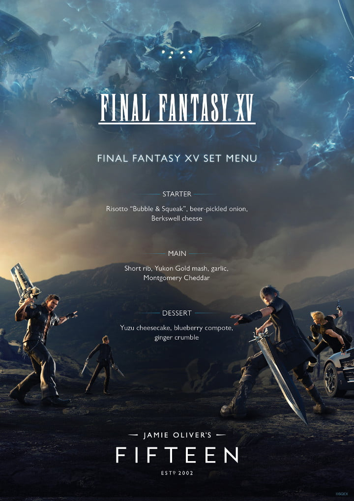 Final Fantasy XV-inspired menu