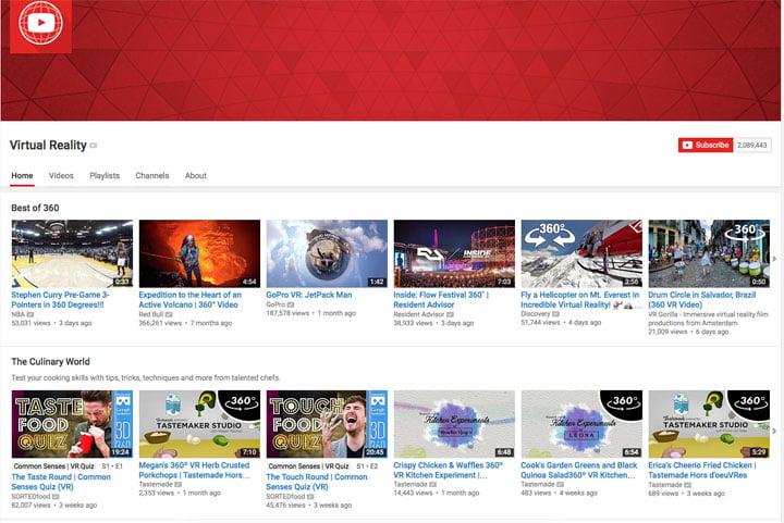 YouTube - Virtual Reality