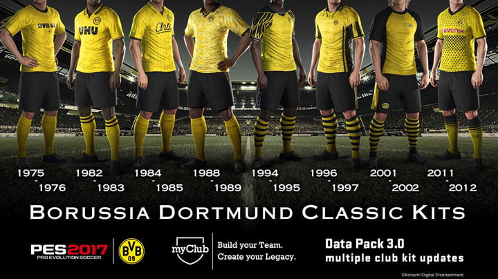 PES 2017 - Borussia Dortmund Kits