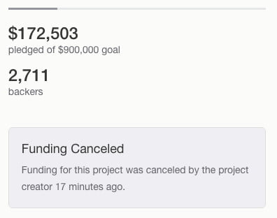 Apocalypse Now Kickstarter cancelled