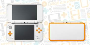New Nintendo 2DS XL - White/Orange