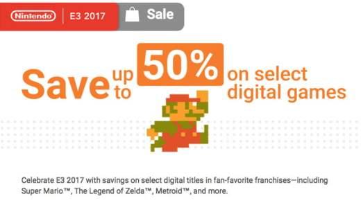 Nintendo E3 eShop sale