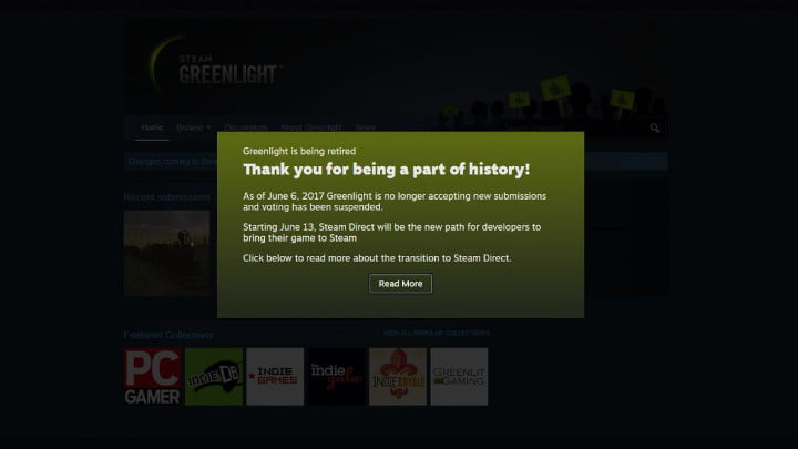 Steam Greenlight dead