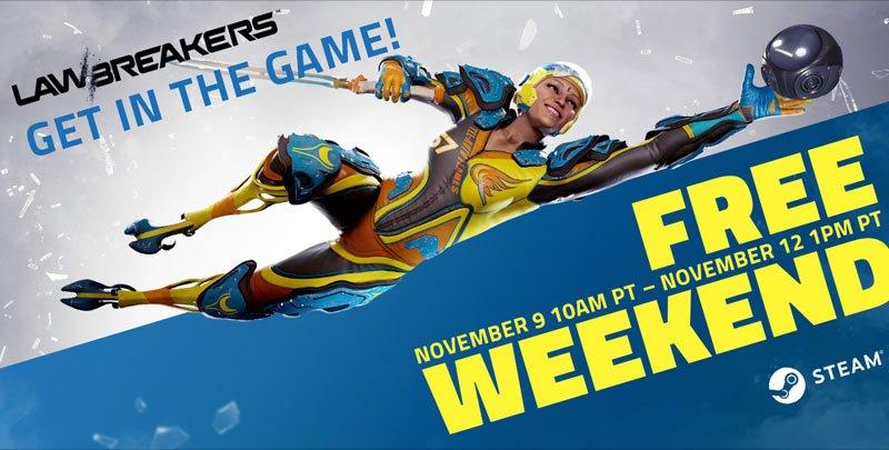 LawBreakers is free to play this weekend on Steam