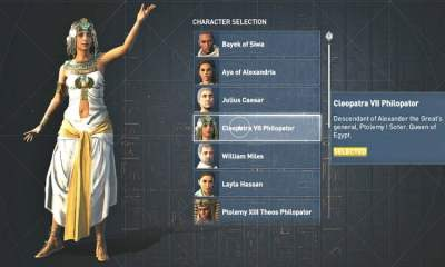 Assassin's Creed Origins Discovery Tour character list