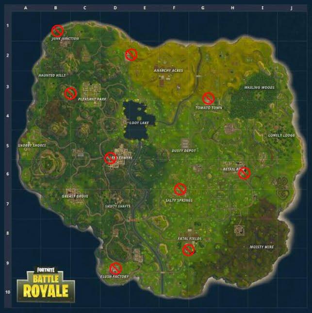 Fortnite forbidden dance locations