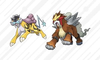 Pokemon Raikou and Entei