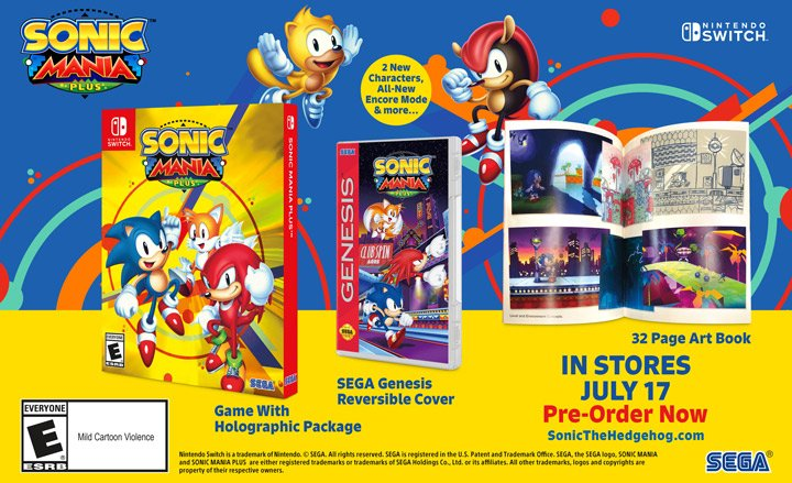 Sonic Mania Plus retail edition