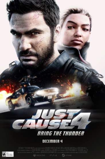 Just Cause 4 2000s movie poster