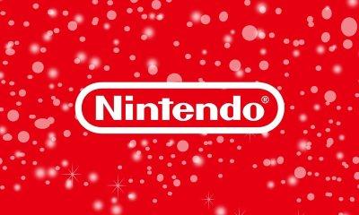 Nintendo logo snow