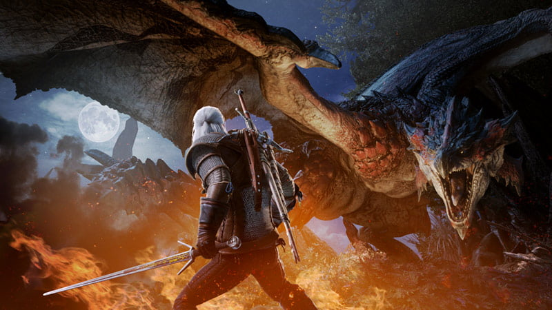 Monster Hunter: World is getting new DLC, and a Witcher 3 event in 2019