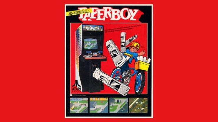 Paperboy Arcade Flyer