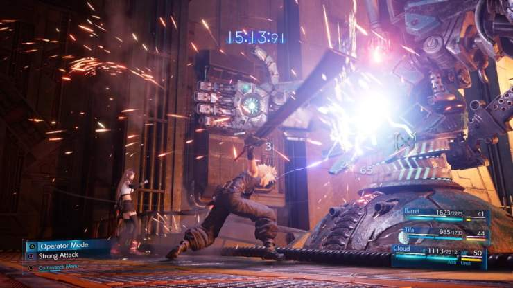 final fantasy vii remake combat screenshot