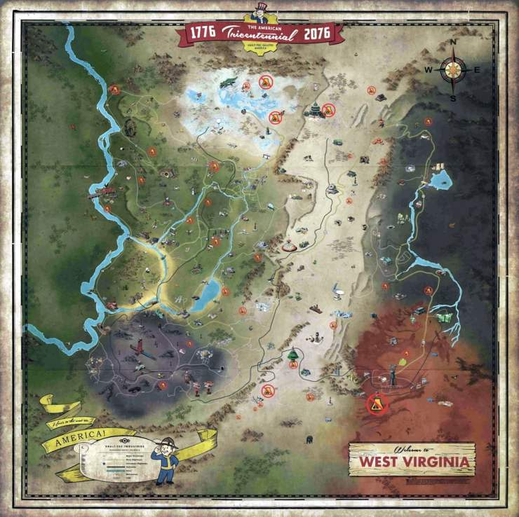 Fallout 76 Wastelanders Map