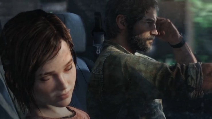 The Last of Us Joel Ellie car