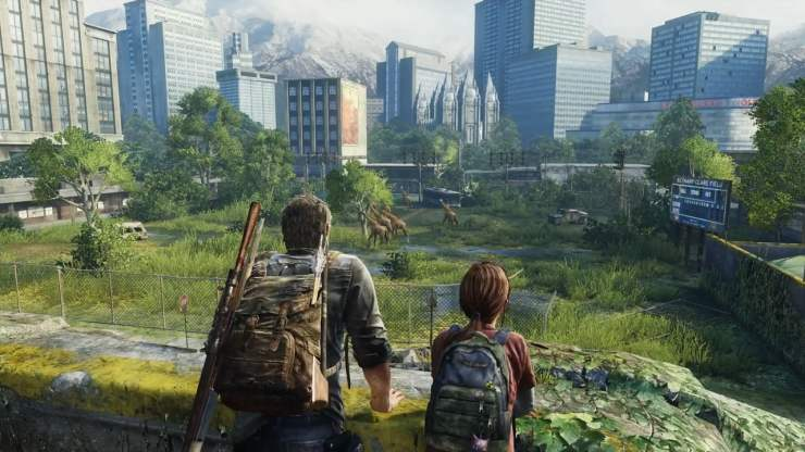 The Last of Us Joel Ellie giraffes