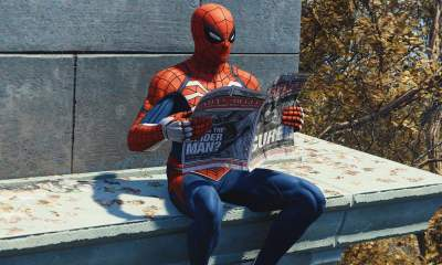 spider-man reading newspaper