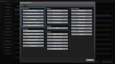 RPG Maker events interface