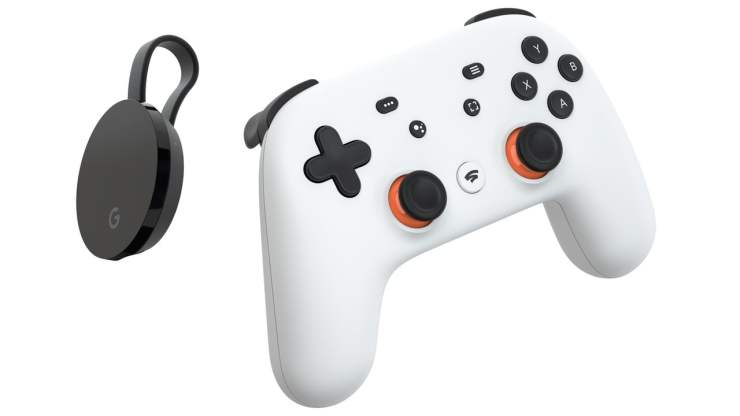 Google Stadia Controller and Chromecast Ultra
